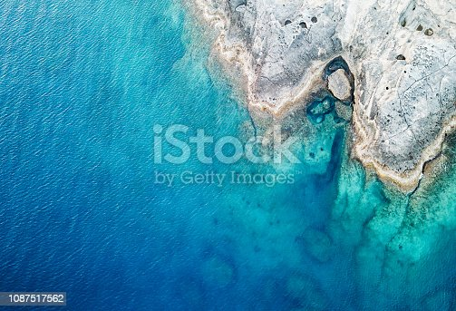 istock Aerial View of the Sea and Rock 1087517562