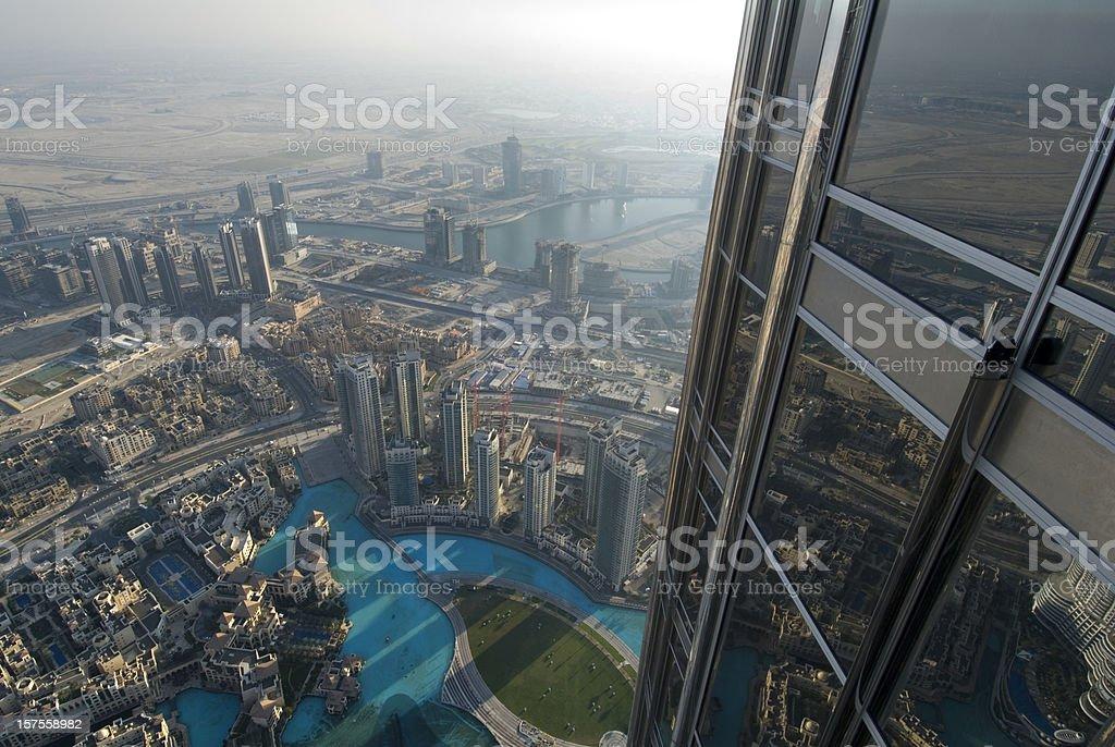 Aerial view of the Skyline of Dubai royalty-free stock photo