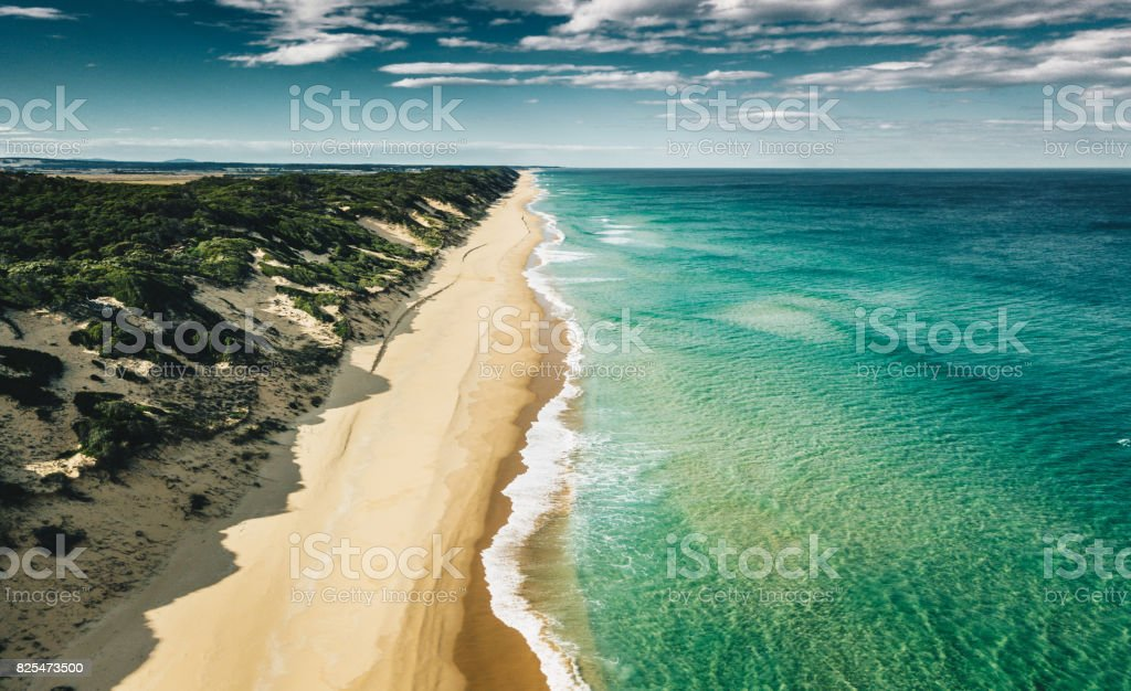 aerial view of the southern australian coastline stock photo