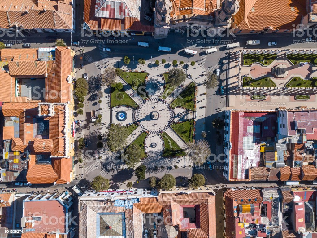 Aerial view of the square royalty-free stock photo