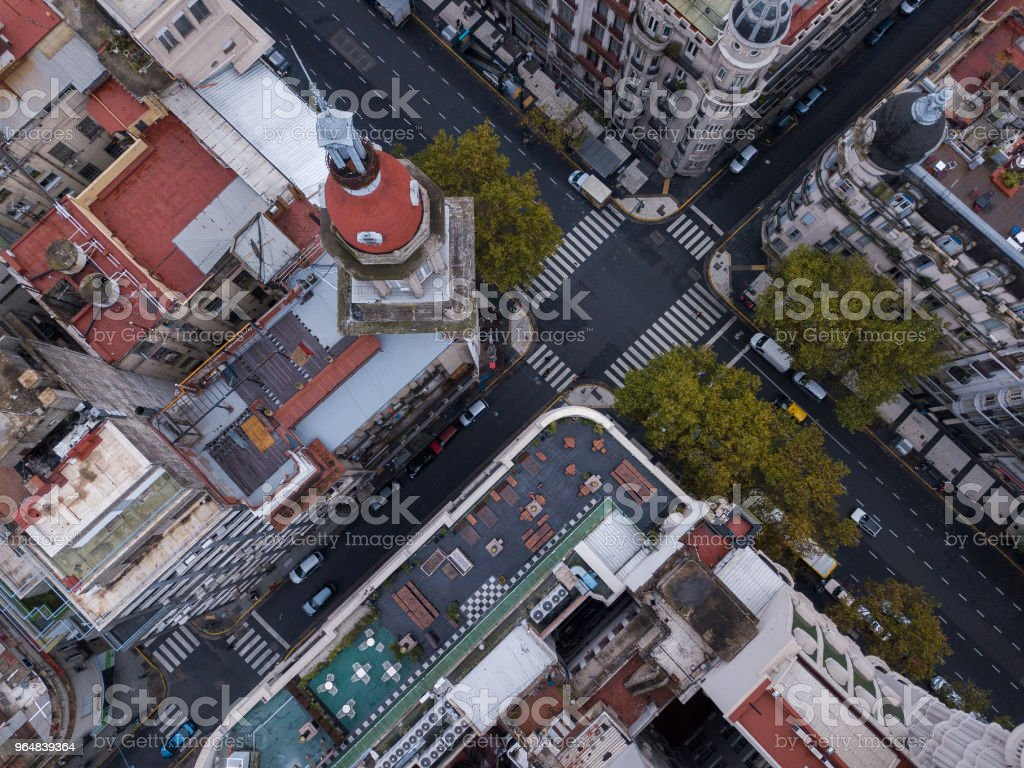 Aerial view of the streets of Buenos Aires royalty-free stock photo