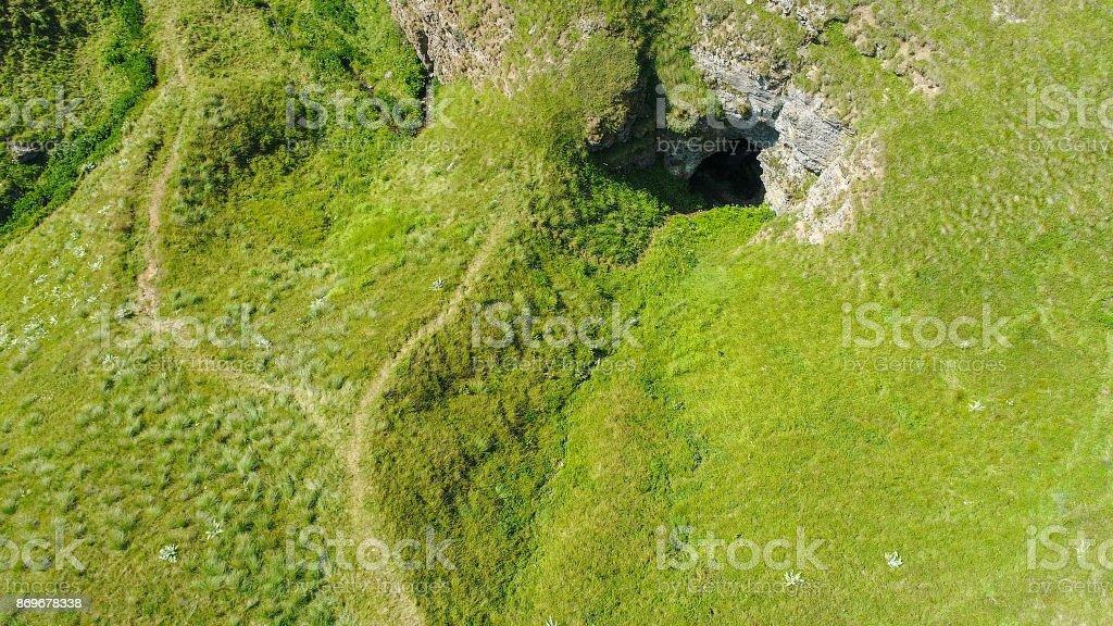 Aerial view of the subterranean river, Ponor, Stara planina mountain, Serbia stock photo