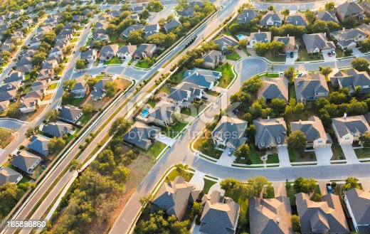 istock Aerial View of the Suburbs 165886860