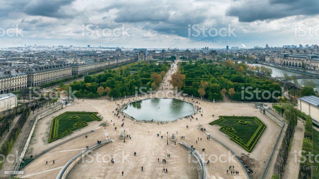 Luftaufnahme Des Jardin Des Tuileries Jardin Des Tuileries ...