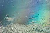 Aerial view of the Tyrrhenian sea.