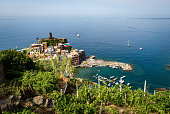 istock Aerial view of the Vernazza village and seascape Cinque Terre Italy 1227490672