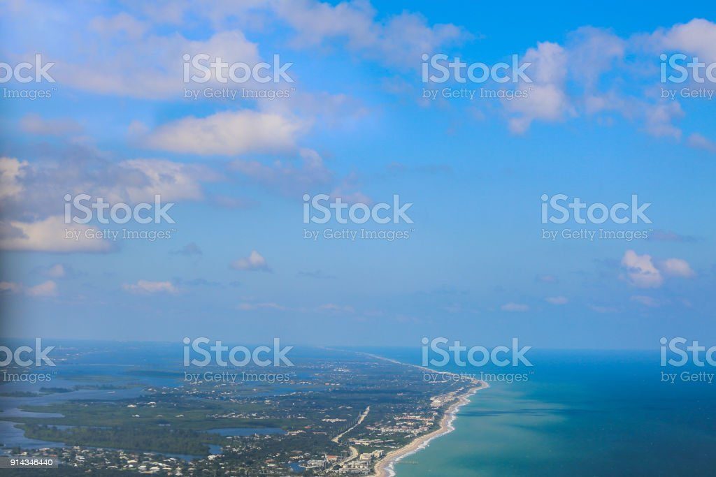 Aerial View of the Vero Beach Inlet stock photo