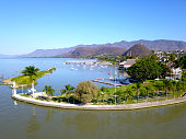 istock Aerial view of the yacht club near the Chapala boardwalk 1323274778