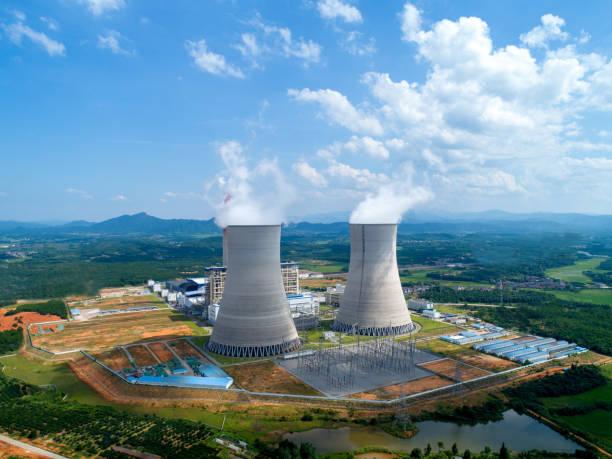 Luftaufnahme des Wärmekraftwerks – Foto