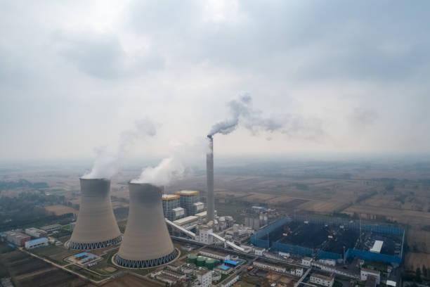 Luftaufnahme des thermal power plant – Foto