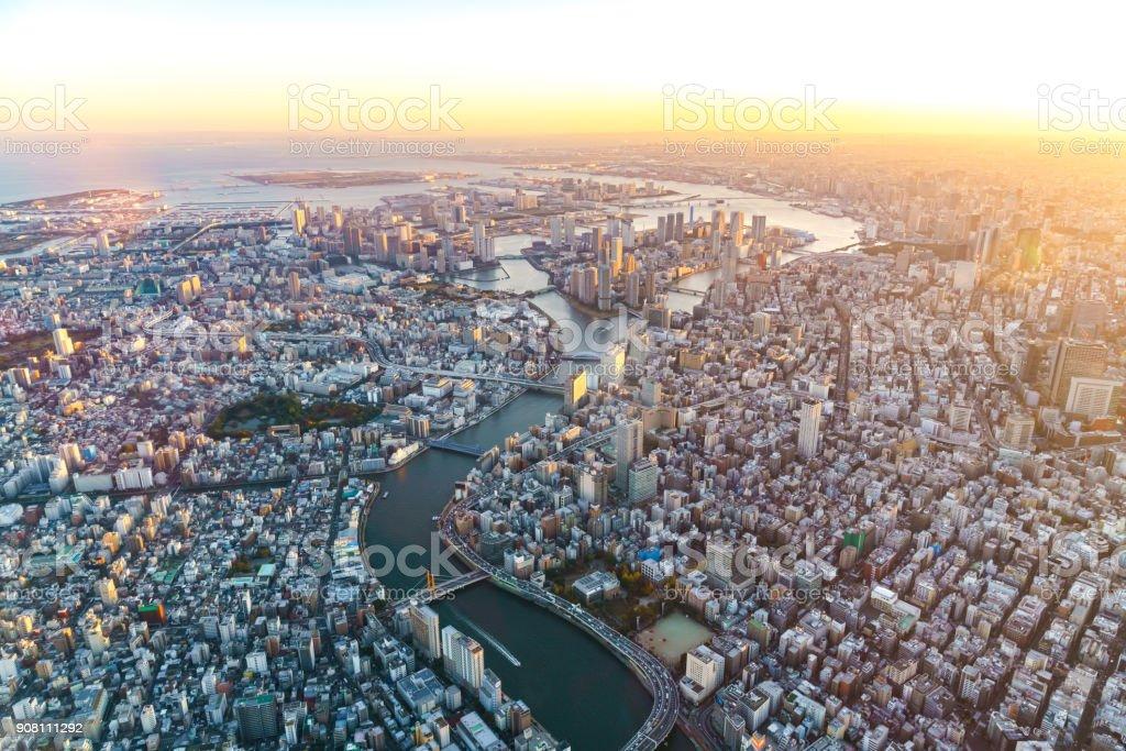 Luftaufnahme von Tokio japan – Foto