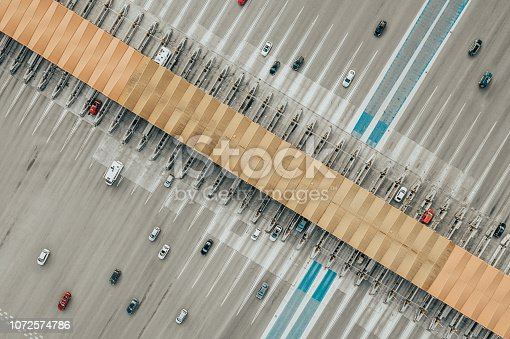 Aerial View of Toll road