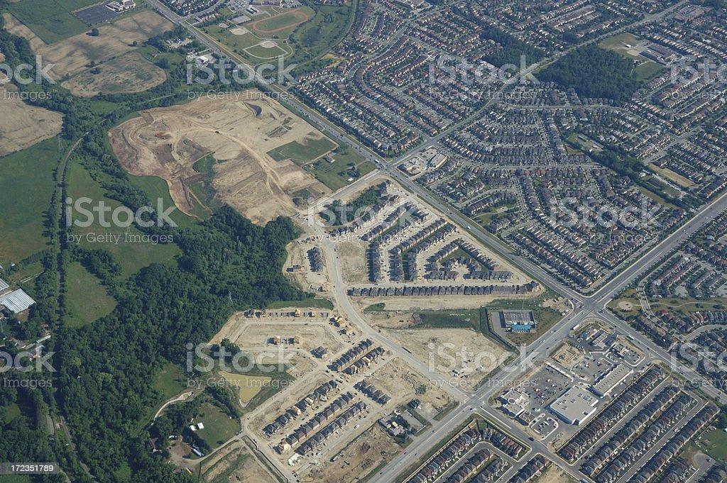 Aerial view of Toronto suburbs royalty-free stock photo