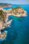 Aerial view of Tossa de Mar, Catalunya, Spain