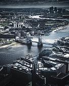 aerial view of tower bridge