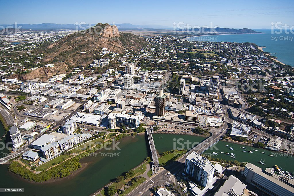 Aerial view of Townsville, Australia stock photo
