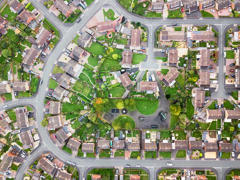 Geleneksel Toplu Konut İngilterede Hava Görünümünü Stok Fotoğraflar & Araba - Motorlu Taşıt'nin Daha Fazla Resimleri