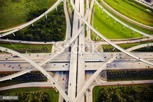 istock Aeirial view of traffic and overpasses 94502433