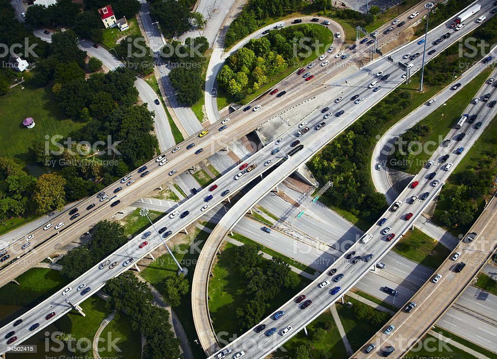 Aerial view of traffic royalty-free stock photo