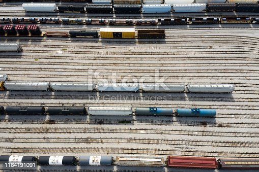 The largest rail yard in the West Coast, Missouri, USA.
