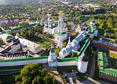 Aerial view of Trinity Lavra of St. Sergius  in Sergiev Posad
