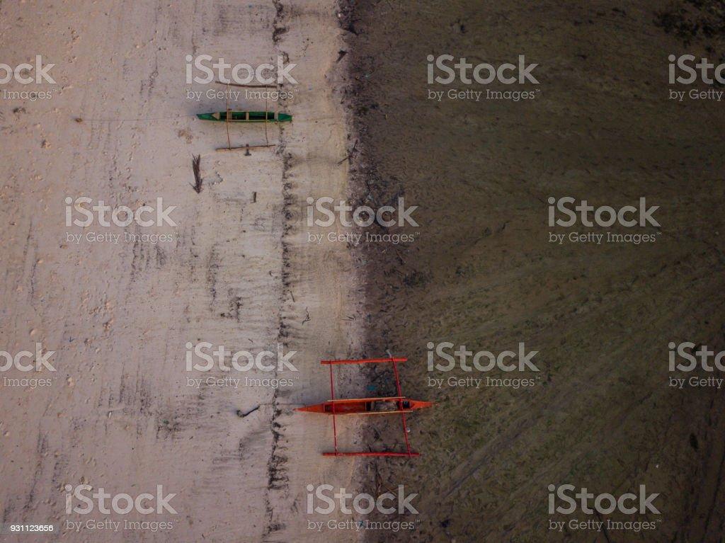Filipinler tropikal plaj havadan görünümü - Royalty-free Ada Stok görsel