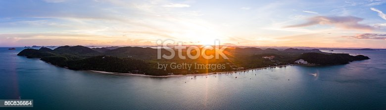 istock Aerial view of tropical beach 860836664