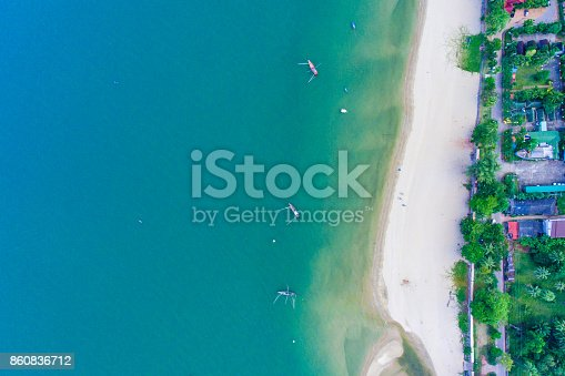 istock Aerial view of tropical beach 860836712