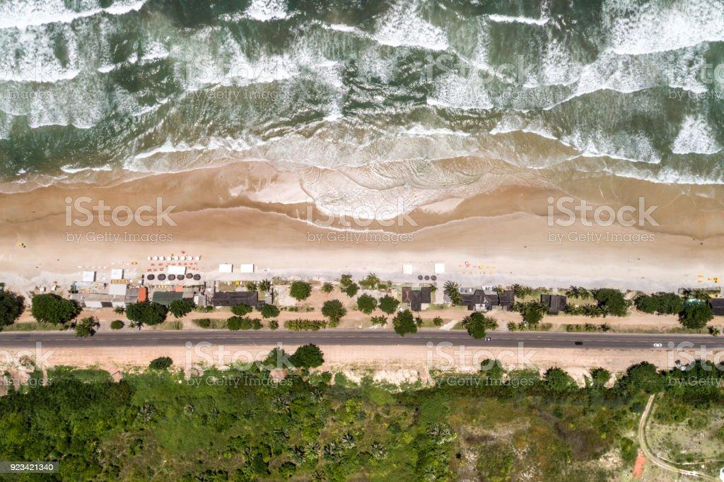 Vista aérea de la playa tropical - foto de stock