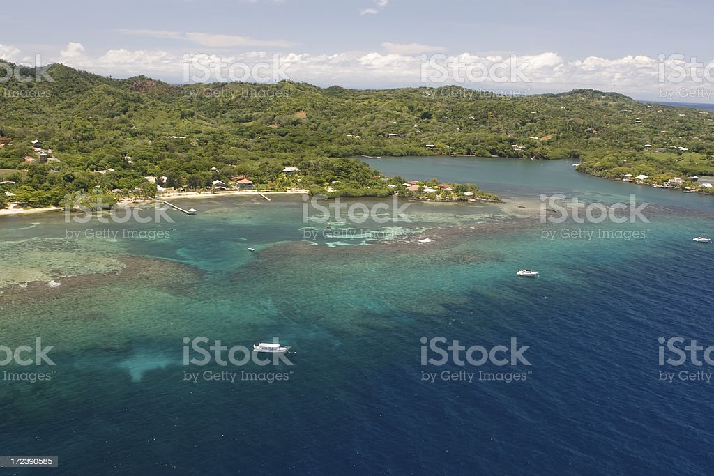 Aerial view of tropical island royalty-free stock photo