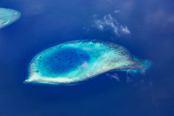 Aerial view of tropical islands - foto stock