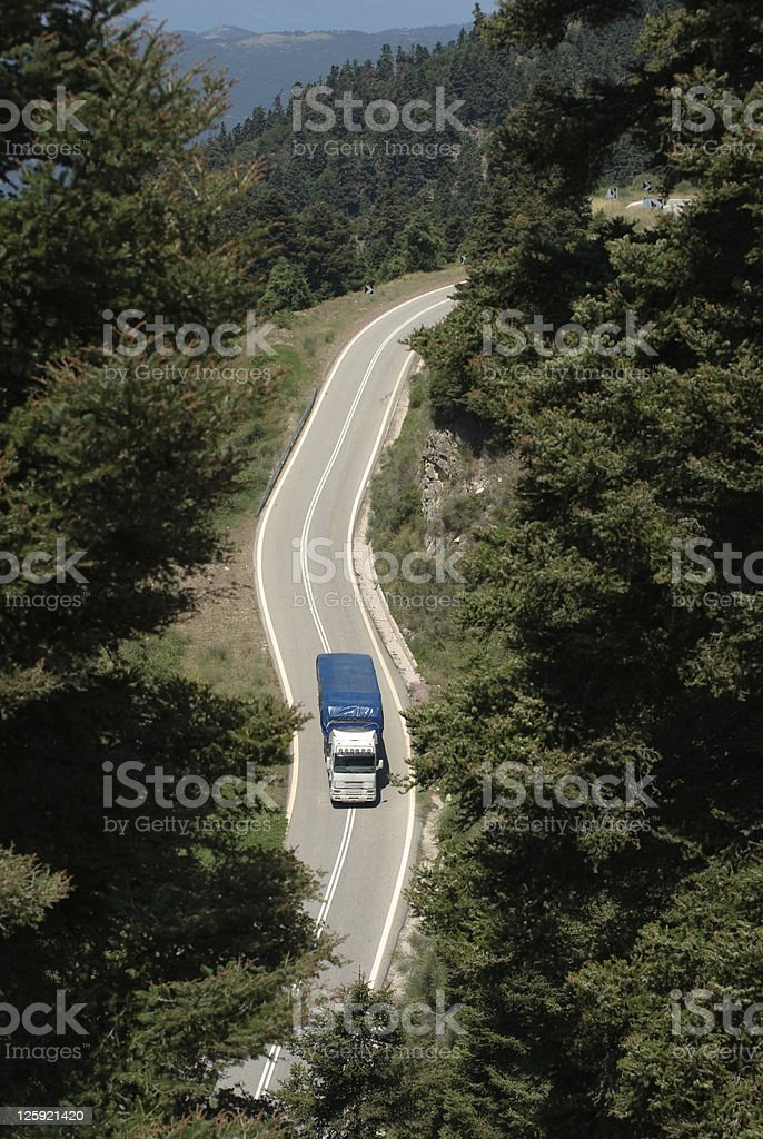 Aerial View Of Truck royalty-free stock photo
