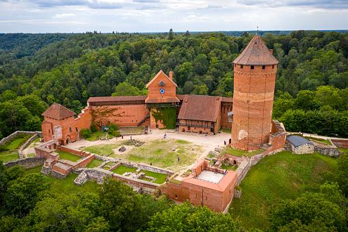 aerial view of turaida castle, Latvia