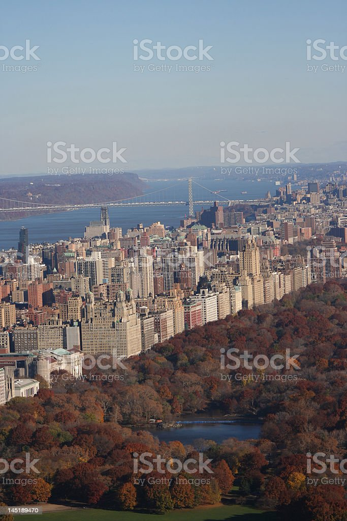Aerial view of Upper West Side royalty-free stock photo