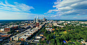 istock Aerial view of Uptown Downtown Charlotte North Carolina 1220374627