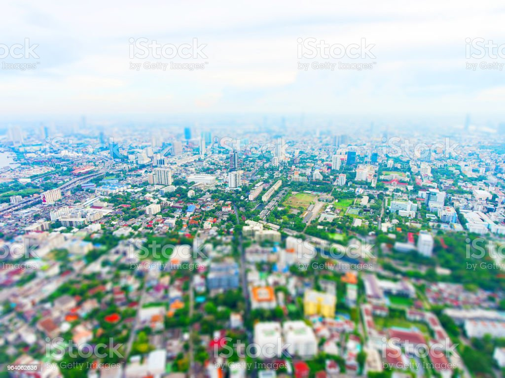 Aerial view of urban city. - Royalty-free Above Stock Photo