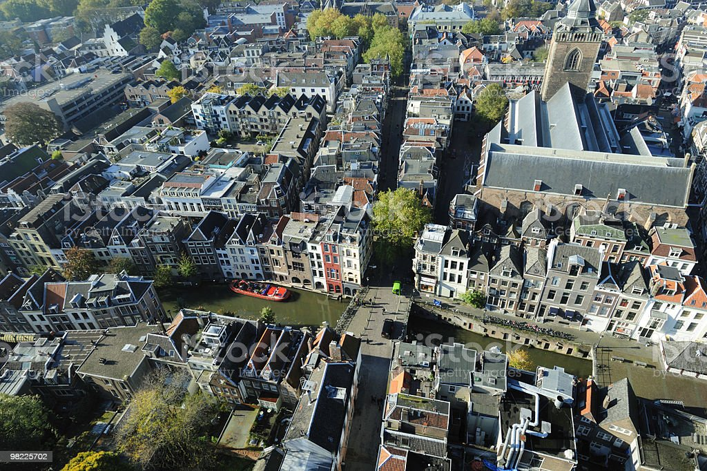 Aerial view of Utrecht royalty-free stock photo