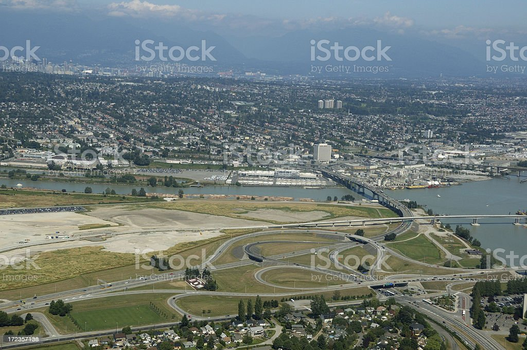Aerial view of Vancouver, British Columbia royalty-free stock photo
