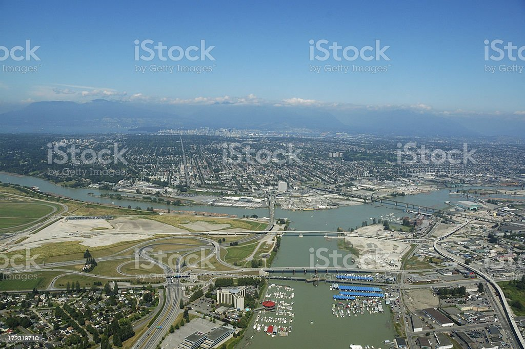 Aerial view of Vancouver royalty-free stock photo