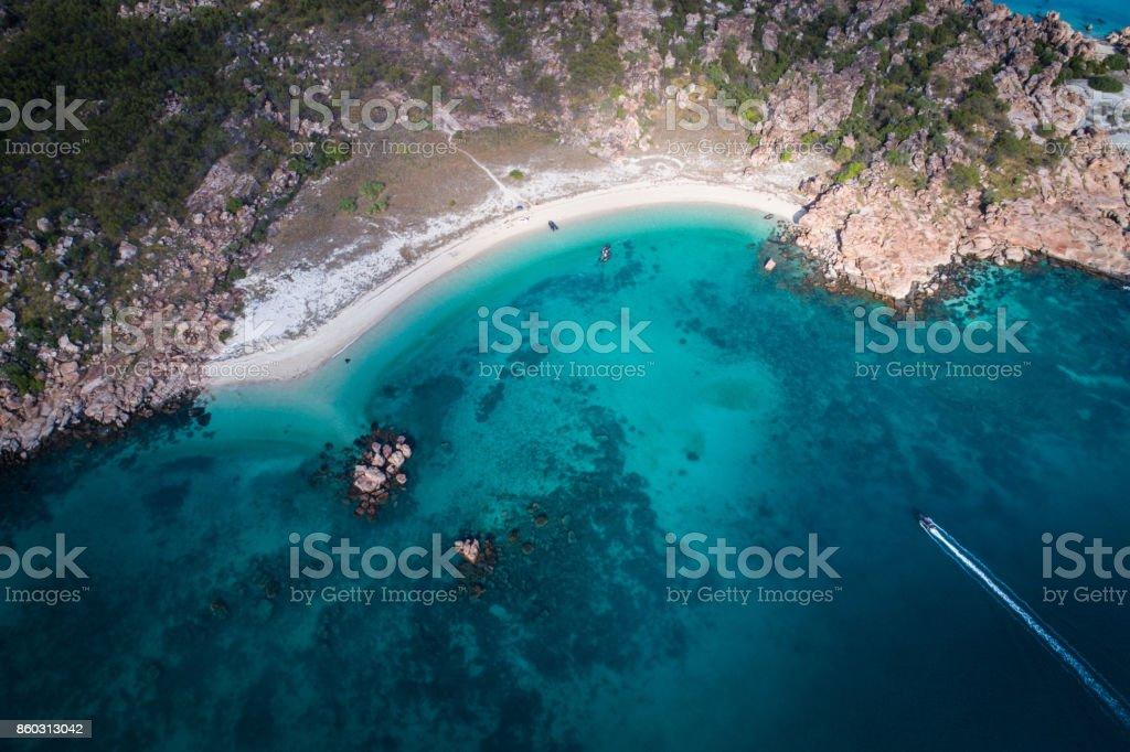 aerial view of Vansittart Bay, Kimberley Coast stock photo