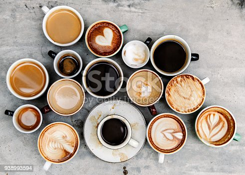 istock Aerial view of various coffee 938993594