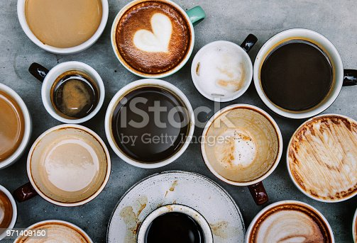 istock Aerial view of various coffee 971409150
