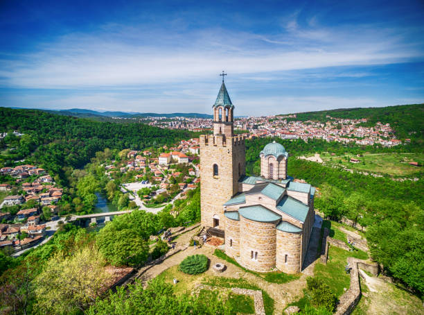 Aerial view of  Veliko Tarnovo old town Aerial view of  Veliko Tarnovo old town bulgaria stock pictures, royalty-free photos & images