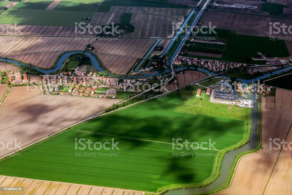 Aerial View of Veneto, Italy, Europe stock photo