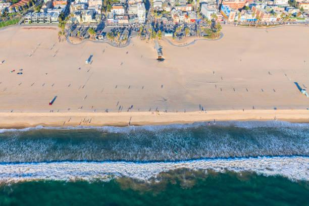 Aerial View of Venice Beach stock photo