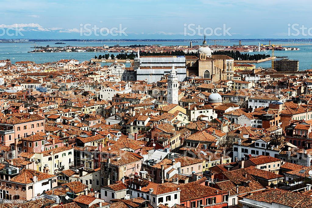 Aerial view of Venice, Italy royalty-free stock photo