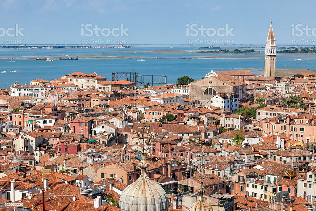 aerial view of Venice, Italy stock photo