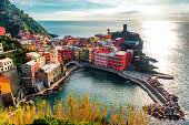 istock Aerial view of Vernazza, Italy 162980958