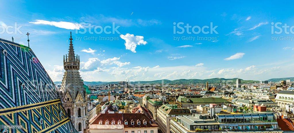 Aerial View Of Vienna City Skyline stock photo