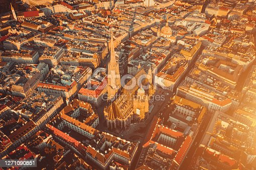 Aerial view Of Vienna - Cityscape